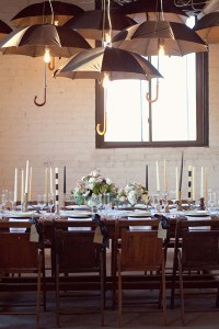 Whimsical Rustic Industrial Black & White Wedding Inspired By Five Str...