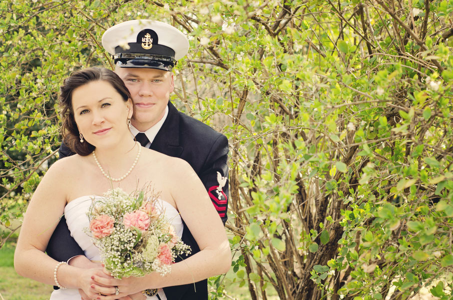 Rustic Woodsy Military Bridals Featuring Smart Dress & Cowboy Boots | Photograph by Sugar and Spice Photography and Design Studio & Tracy Kin of TDK Photography