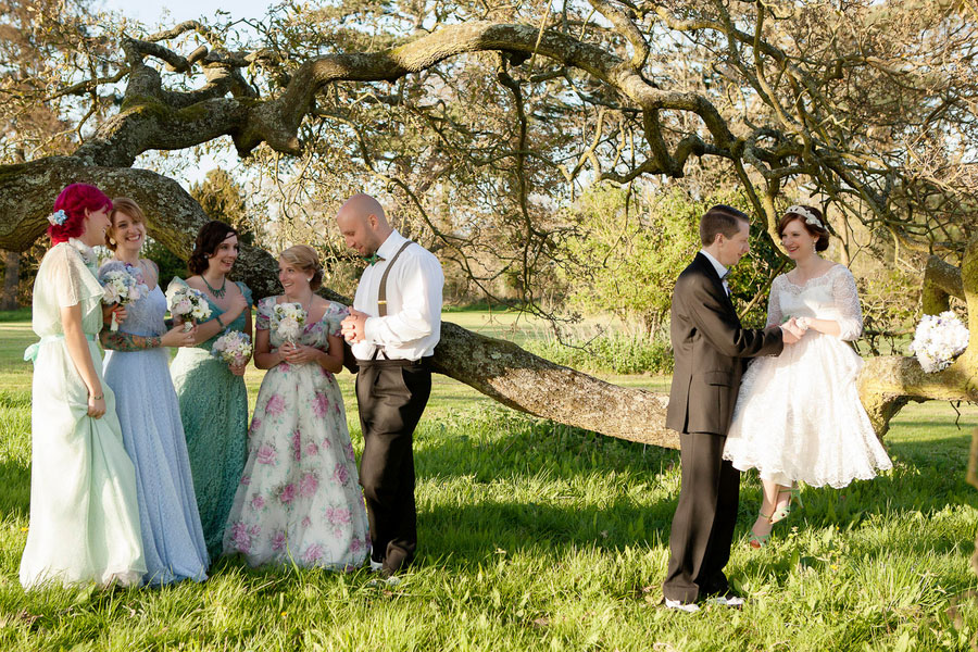 A Truly Whimsical Wedding With Genuine Vintage Touches & Quirky Expression In This Bristol England Wedding | Photograph by Charlene Morton Photography