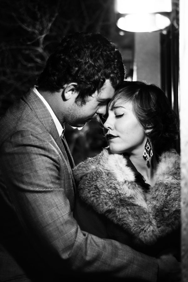 Phenomenal 1940s Black & White Film Noir Engagement Photos | Photograph by Zee Anna Photography