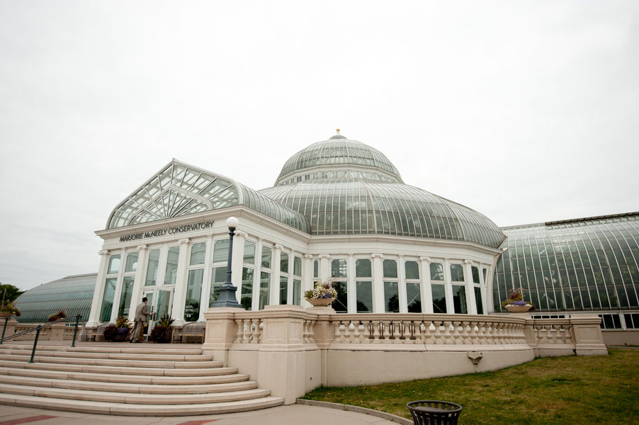 Sunken Garden at Como Park Zoo & Conservatory Plays Host To An Early Morning Intimate Wedding Affair | Photograph by Erin Johnson Photography