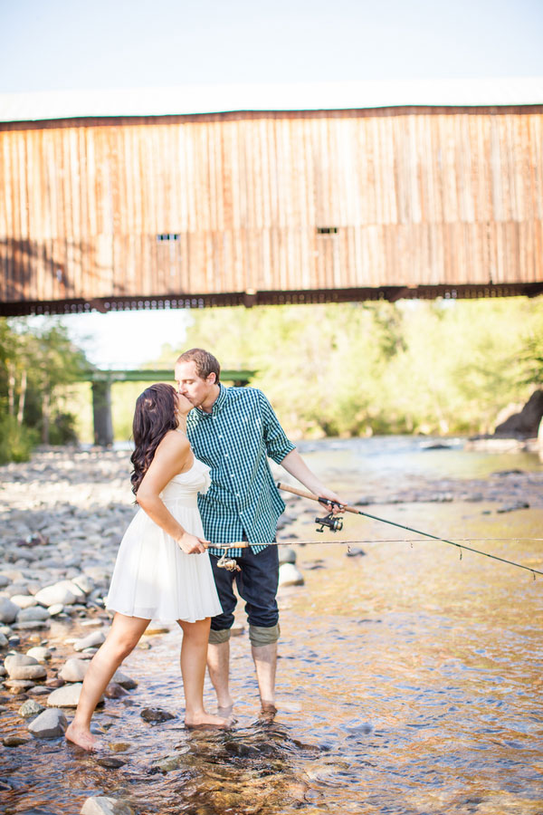 Alaska Summertime Fishing Engagement Session Nestled Along A Babbling Brook | Photograph by Katelyn Owens Photography