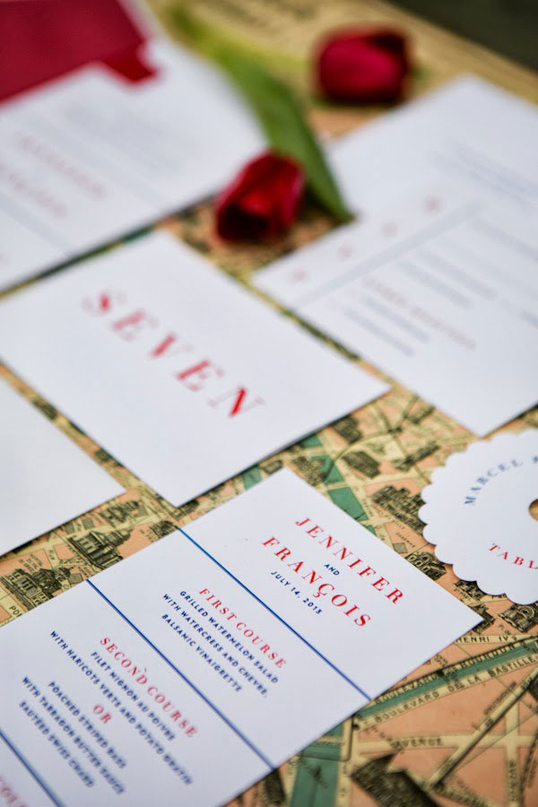 July 4th Americana Meets French Bastille Day In This Red White & Blue Wedding | Photograph by Peach Plum Pear Photography