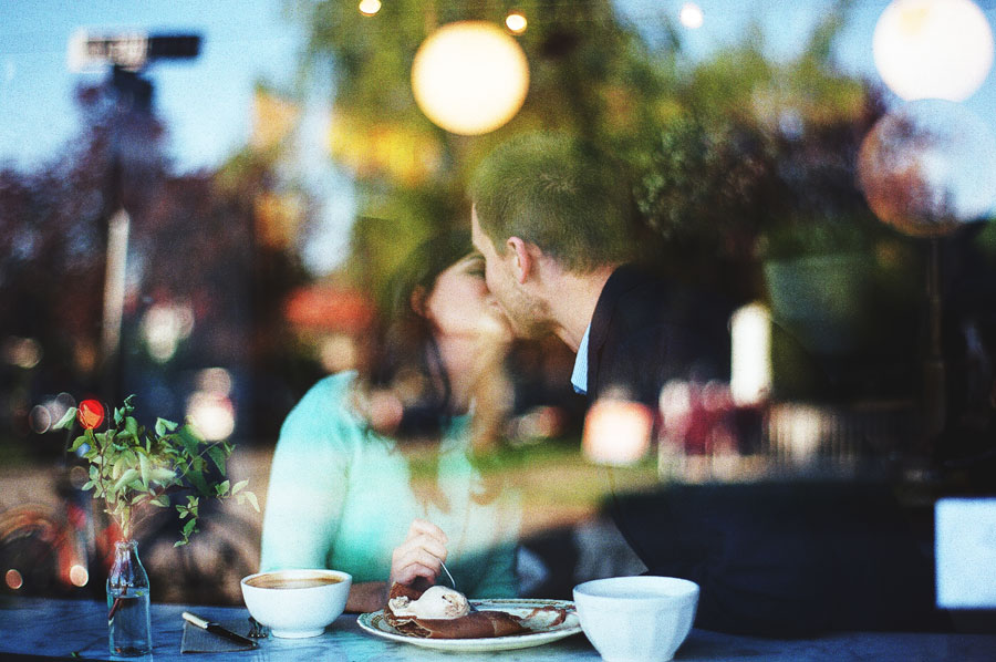Engagement Session Gives Way To A Coffee Date At Vancouver