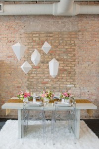 Why It Works Wednesday: Geometric Inspired Whimsical Wedding