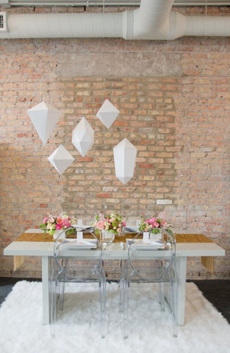 Geometric Styled Wedding By Indie Wed Amanda Megan Miller Photography via Green Wedding Shoes 2