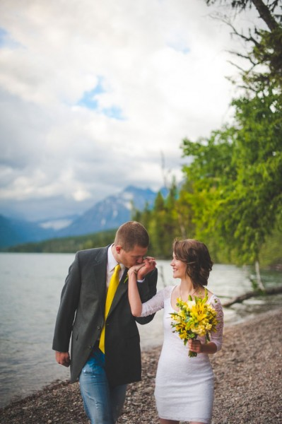 A Woodsy Rustic Elopement In Montana's Captivating Glacier National Park | Photograph by Kelly Kirksey Photography