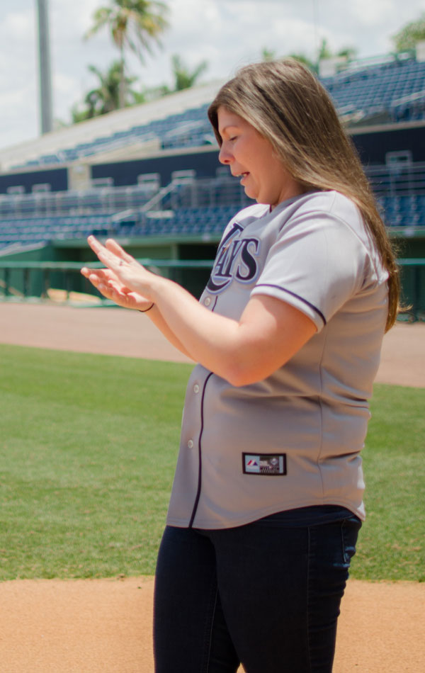 Surprise Proposal Engagement Session Infused With Baseball All Star Game Goodness   Photograph by Luna Bella Photography