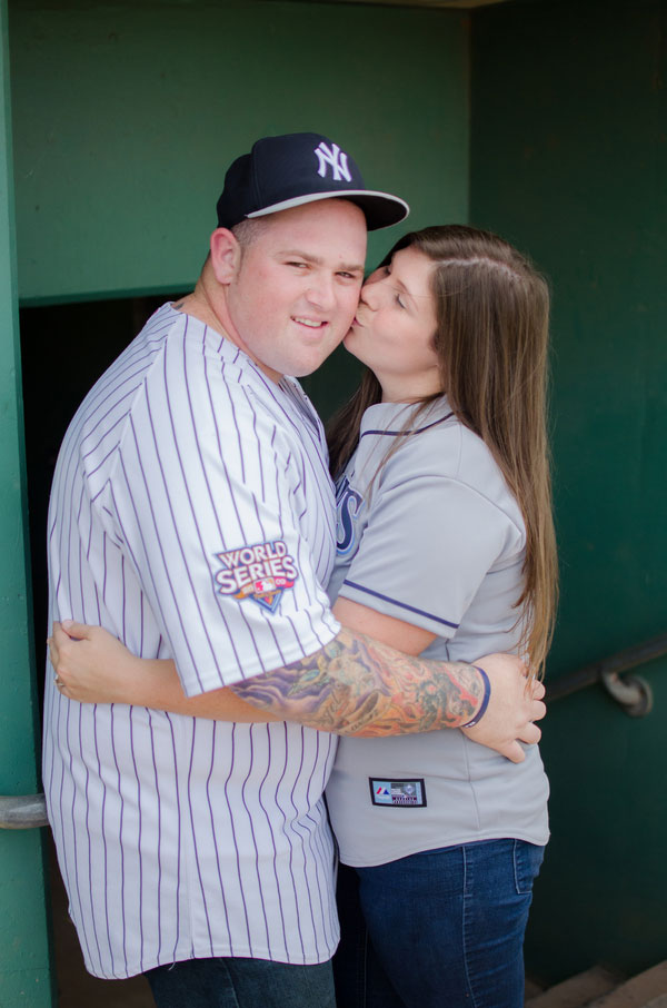 Surprise Proposal Engagement Session Infused With Baseball All Star Game Goodness | Photograph by Luna Bella Photography