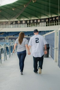 Surprise Proposal Engagement Session Infused With Baseball All Star Ga...
