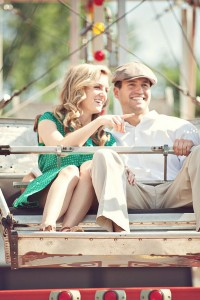 Vintage Inspired Small Town Pop Up Carnival Summer Engagement Session