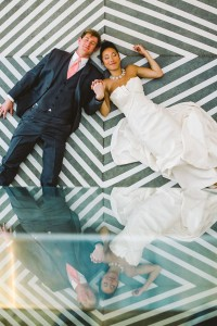 Sleek Modern Wedding At Cam Raleigh With Chevron Dreams In Coral &...