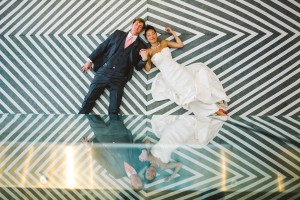 Sleek Modern Wedding At Cam Raleigh With Chevron Dreams In Coral & Gray