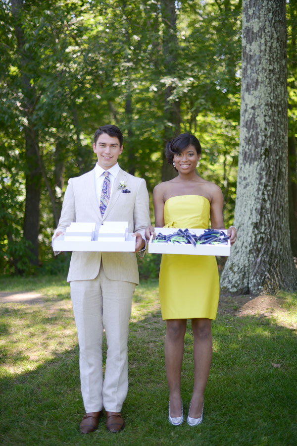 Preppy Country Club Wedding Gets Turned Up A Notch In Navy And Spring Greens With Butter Yellow Accents   Photograph by dani. fine photography