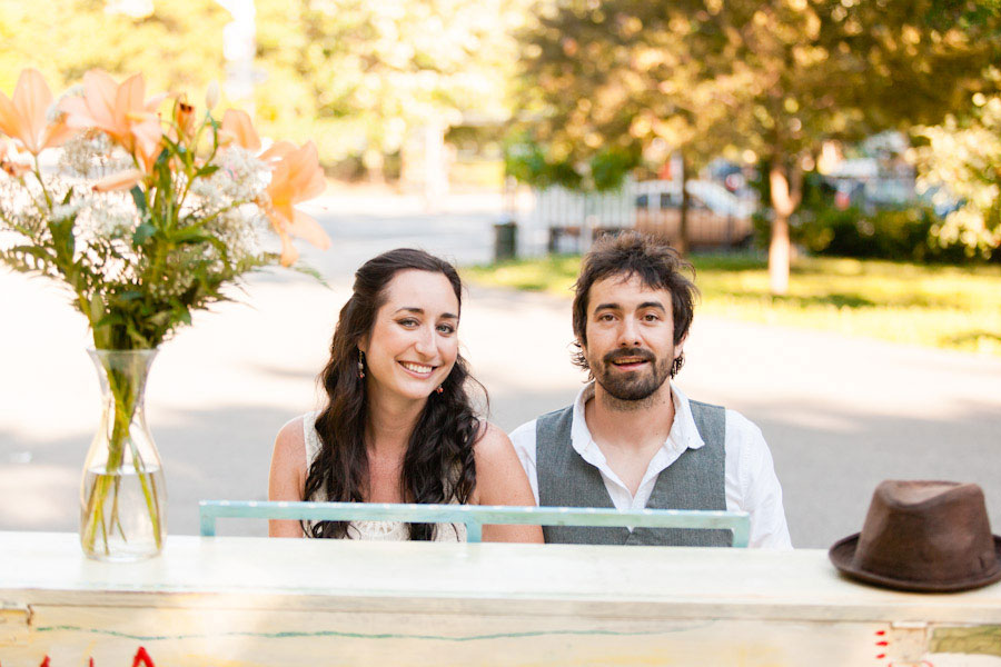 Sing for Hope New York City Refurbished Park Piano Musician Engagement Session | Photograph by Casey Fatchett Photography