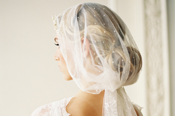 Why It Works Wednesday: Vintage Veil Luxury In Dots & Lace From Cheryl Taylor of Taylor Clarke Bridals