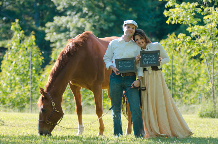 State Arboretum of Virginia Vintage Outdoor Equestrian Engagement Session | Photograph by Daisy Saulls Photography