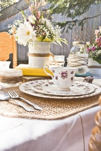 Vintage Inspired Shabby Chic Backyard Wedding With Lovely Floral Detai...