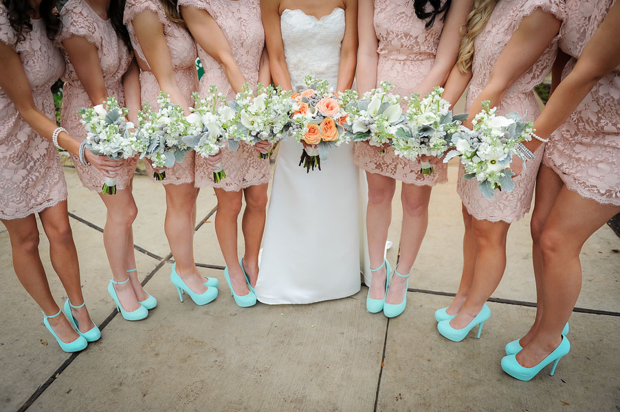 Modern Come Vintage Austin Texas Wedding In Baby Pink Turquoise Photograph By Click