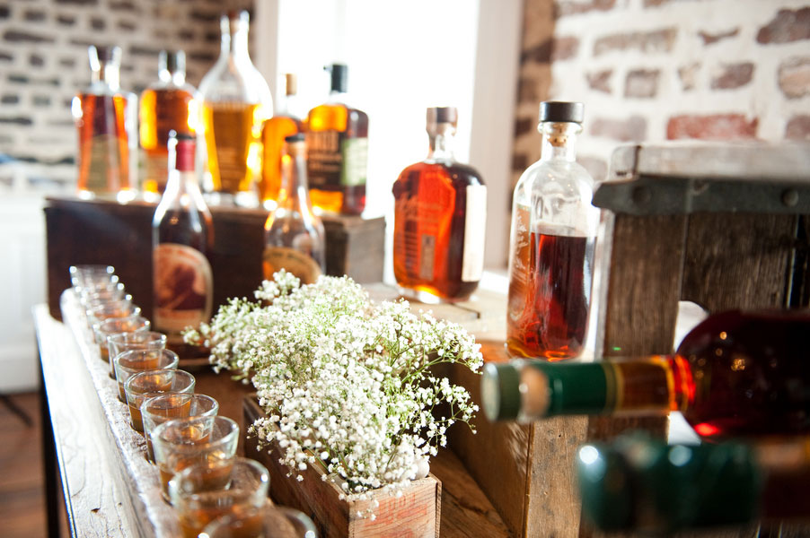 Growler Station & Bourbon Bar Lay The Ground Works For This Gentleman's Southern Living Fete | Photograph by Reese Moore Weddings