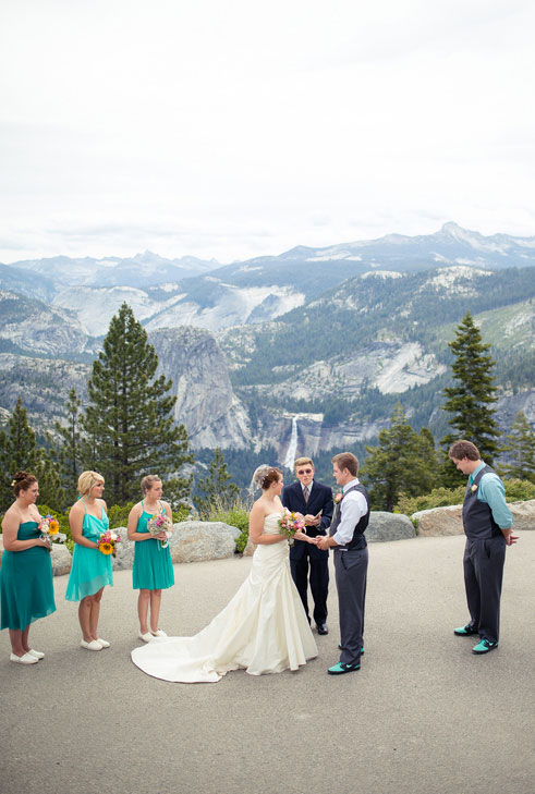 The Grandeur Of Glacier Point On Display In This Rustic DIY Yosemite Park Wedding | Photograph by Amy Atkins Photography