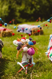 Eclectic Griffis Sculpture Park Picniclike Offbeat Wedding Among The A...