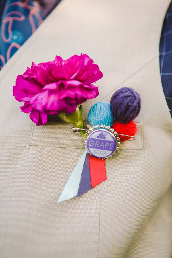 Eclectic Griffis Sculpture Park Picniclike Offbeat Wedding Among The Art In Red, Purple & Light Blue | Photograph by Carolyn Scott Photography