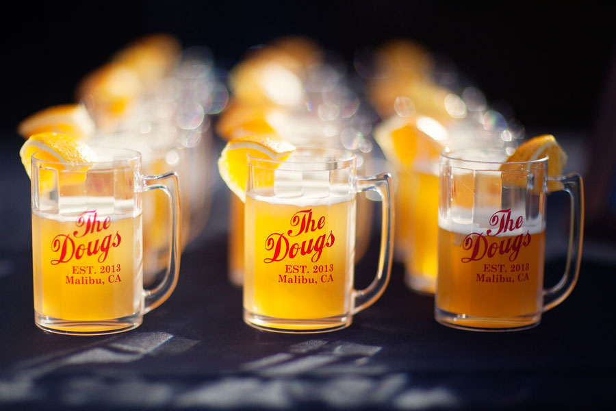 Wonderfully Personalized Santa Monica Mountain Malibu and Vine Wedding Featuring Craft Beer & Tasty Treats | Photograph by Bright Bird Photography