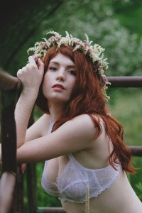 Sensual & Stunning Private Garden Boho Flower Bed Boudoir Session
