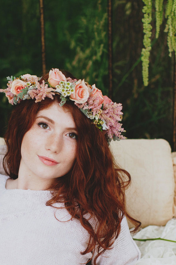 Sensual & Stunning Private Garden Boho Flower Bed Boudoir Session | Photograph by F/stop Poetry