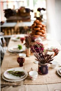 Why It Works Wednesday: Organic Harvest Fall Table Setting With Cranbe...