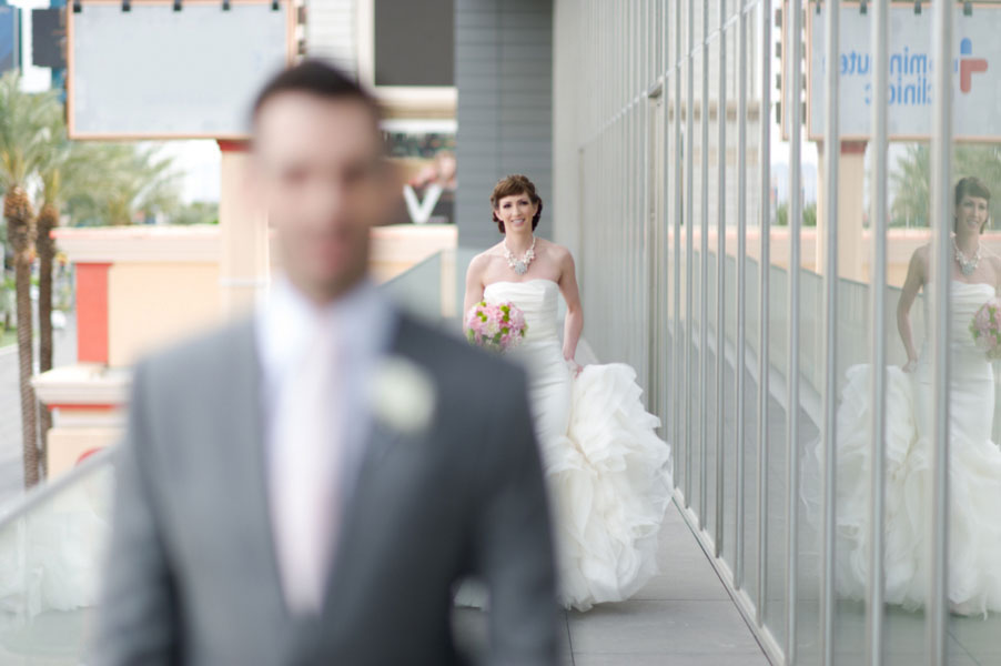 Modern Sophistication At The Mandarin Oriental Las Vegas Wedding In Gray & Pink   Photograph by Ron Dillon Photography