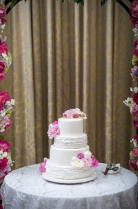 Modern Sophistication At The Mandarin Oriental Las Vegas Wedding In Gray & Pink | Photograph by Ron Dillon Photography