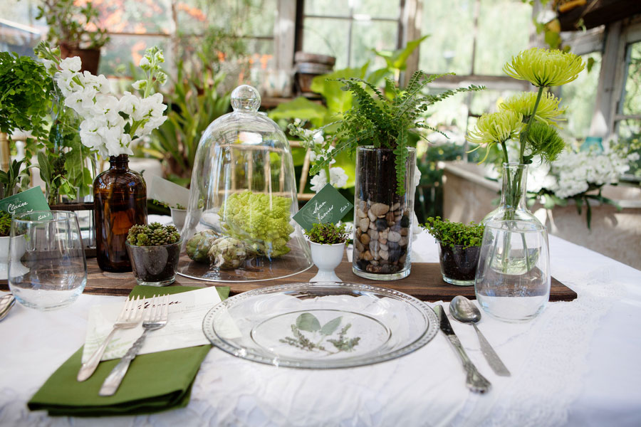 Gorgeous Organic Botanical Greenhouse Garden Wedding At The Condor