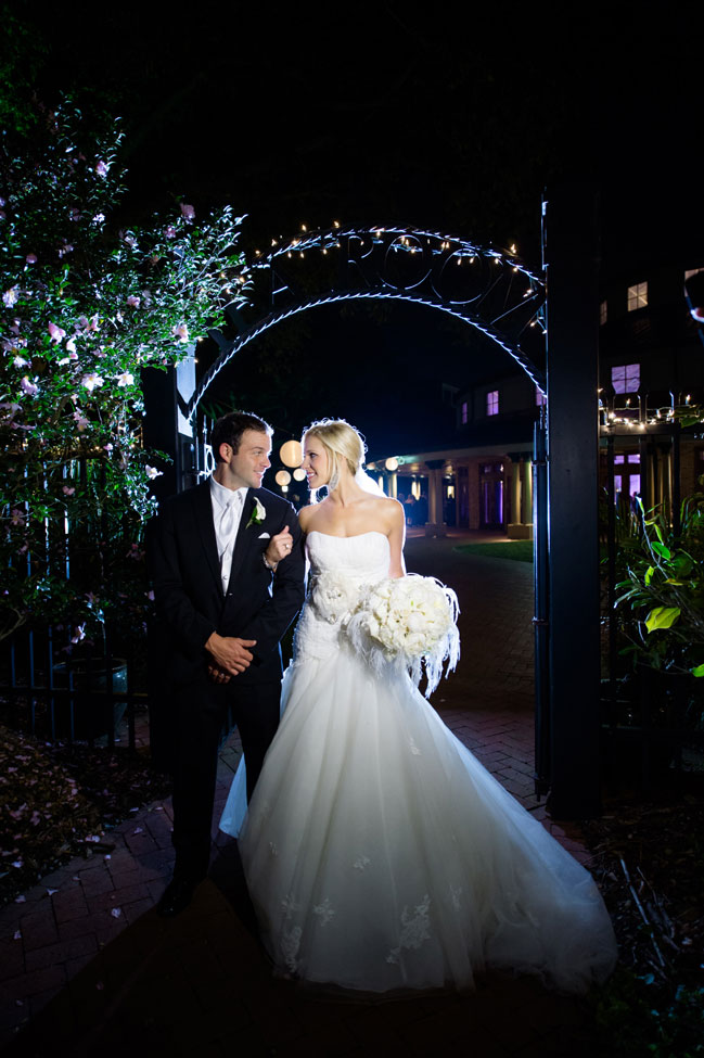 New Orleans Glam Wedding In Black & White With Crystals | Photograph by Mark Eric Weddings