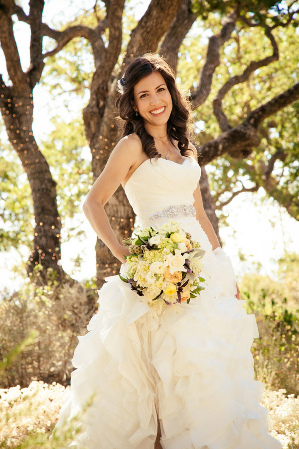 Traditional Modern California Winery Wedding Al Fresco In Purple & Soft Butter Yellows   Photograph by  A. Blake Photography
