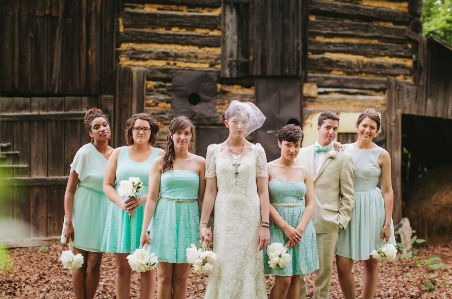 Eclectic Chic Country Wedding In Robins Egg Blue | Photograph by Blest Photography https://www.storyboardwedding.com/eclectic-chic-north-carolina-country-wedding-robins-egg-blue-porcelain-figurines/