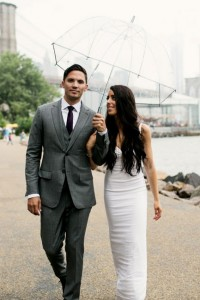 Chic Red Hook Brooklyn Liberty Warehouse Wedding Filled With Billowy B...