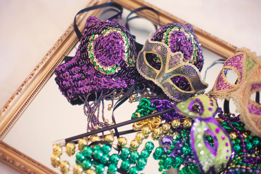 Las Vegas Bachelorette Party Boudoir With French Mardi Gras Undertones | Photograph by Mary Meyer Photography  https://www.storyboardwedding.com/las-vegas-bachlorette-party-boudoir-french-mardi-gras-undertones/
