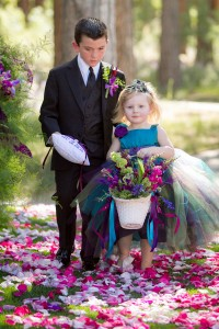Baroque Style Enchanted Outdoor Garden Peacock Inspired Wedding