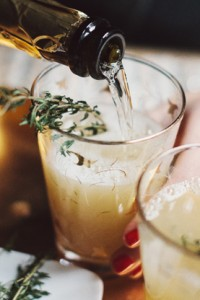 Specialty Cocktails: Pear Nectar & Thyme Mimosa Via The Glitter Gu...
