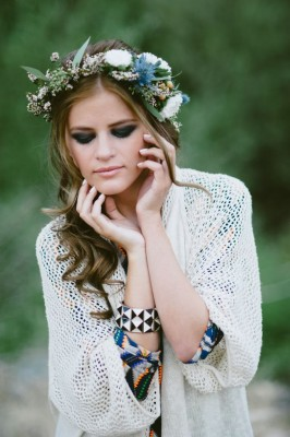 70s Inspired Floral Crown Jessie Alexis Photography via Fab You Bliss