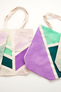 DIY Spray Tote Bags by Brit + Co