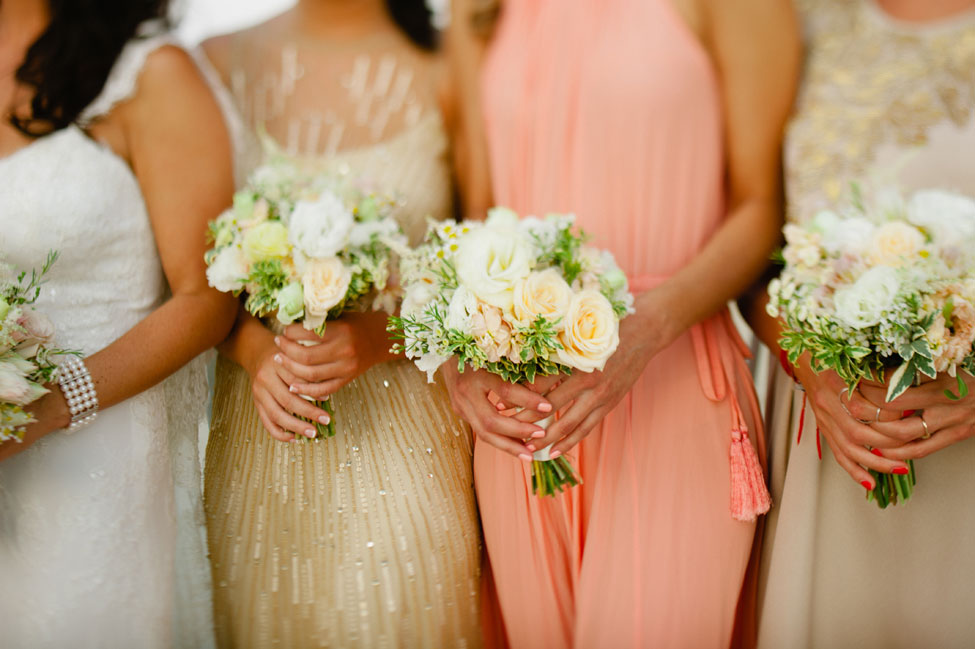 Glam Seaside Wedding in Champagne & Blush Tones With An Art Deco Great Gatsby Vibe | Photograph by Off Beet Productions
