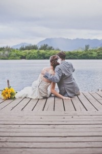 Playful St. Patrick's Modern Hawaiian Wedding In Green, Yellow & Orange | Photograph by Christina Heaston Photography http://www.storyboardwedding.com/modern-st-patricks-day-hawaiian-wedding-green-yellow-orange/