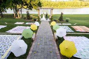 Citrus Infused Lakeside Country Wedding With Laid Back Whimsy