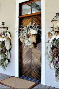 Neutral Winter Wedding Decor via Thistle Wood Farms VT