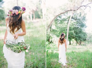 Rainbow Floral Crown Erica J Photography via Glamour and Grace 1