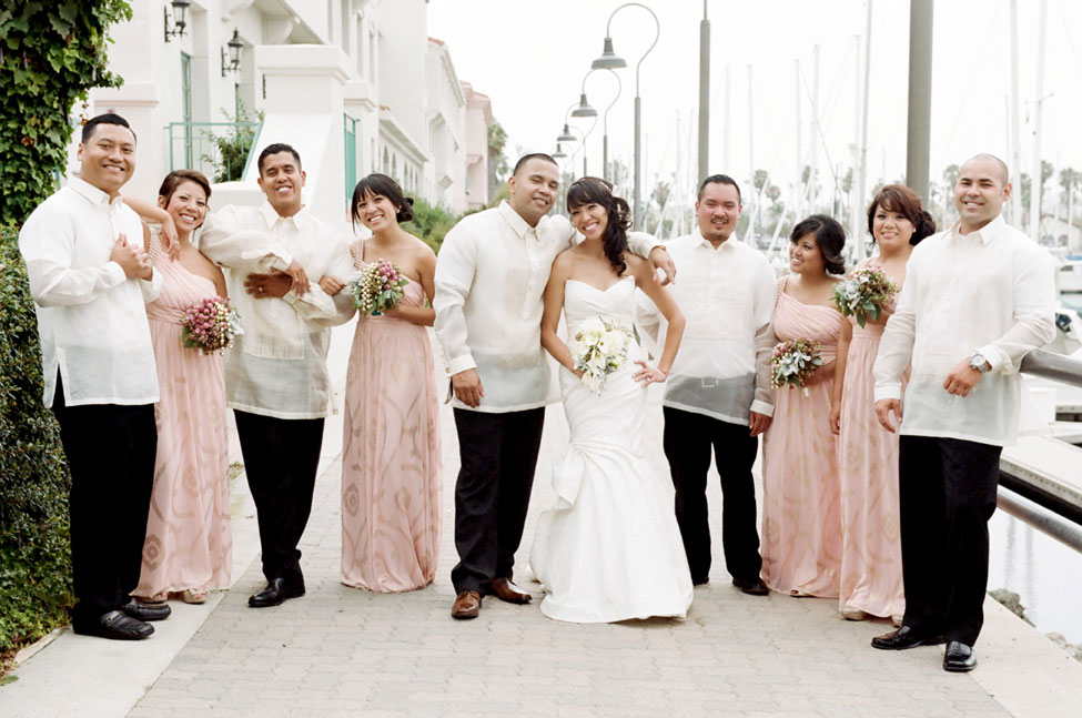 Fresh Bright California Wedding Filled With Unique Blooms & Gorgeous Bridal Party Style | Photograph by Tikko Weddings  https://www.storyboardwedding.com/traditional-california-wedding-light-bright-style/