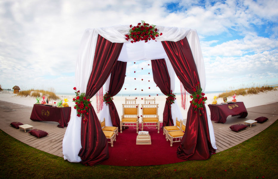 Dual Faith Buddhist Hindu Wedding In Bold Red & Bright Metallics   Photograph by Limelight Photography